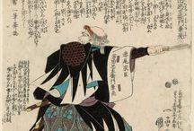 日本・浮世絵(ukiyo-e)四十七士(47 rōnin)