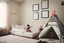 montessori bedroom style / Montessori themed bedrooms // Floor Beds // Creative spaces for toddlers and kids.