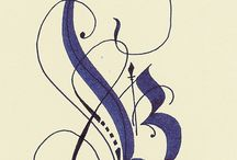 Calligraphy and Lettering / All forms of calligraphy and lettering...broadedged or pointed tool
