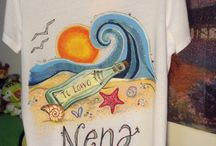 T-shirt handpainted / T-shirt handpainted