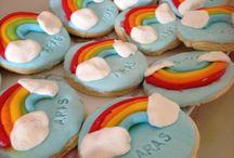Aras s rainbow party / Rainbow baby party  1. Birthday cookie rainbow cake diy lemonede