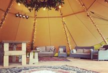 Teepee Interiors / Everyone knows it's what's on the inside that counts! This board is a few of our teepees beautifully styled at New Zealand events.
