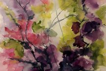 aquarel flowers abstract  Toos Verhaegh