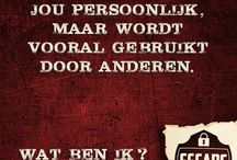 Raadsels van Escape Roosendaal / Raadsels, logische puzzels en breinbrekers van Escape Roosendaal.