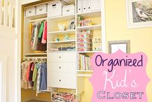 Kids' Clothes Organizing / organized kids clothing, children's attire, toddlers, babies, teens, wardrobe, outfits