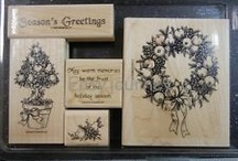 SU Fruit of the Season / Set of 5 Christmas Holiday stamps -1999 (retired)
