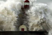 lighthouses in storm