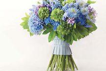 Букет невесты- синий