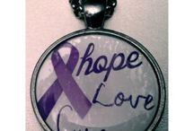 Purple Awareness Ribbon Jewelry