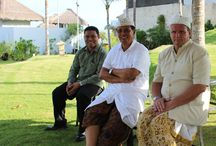 Odalan at Samabe / Samabe 1st anniversary celebrated with Odalan. Odalan is Balinese Hindu religious ceremony to celebrate birthday by doing purification.