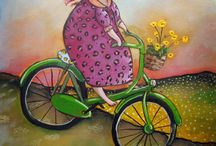 art about Bicycles / Bucycles is a very interesting subject for art