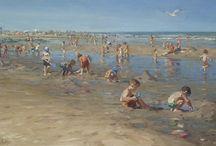 Schilderijen van strand gezichten