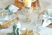 Seaside Themed Afternoon Tea Tables And Room Decorations