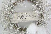 shabby chic and wreaths