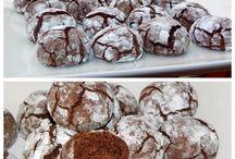 Galletas acolchadas de chocolate