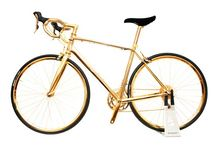 Gold plated men's racing bike / Gold plated men's racing bike with nickel undercoat for corrosion protection