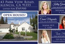 Open Houses / Open Houses in Santa Clarita, Antelope Valley and San Fernando Valley.