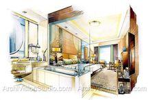 Interior design renders