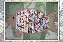 peixe de retalhos
