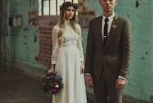 A wedding -standing there