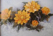 クイリング:冬ー花