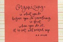 On Organising...