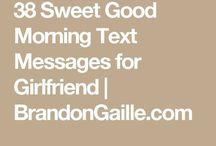 Sweet Goodmorning Texts