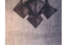 Helena Kalna graphic / Drypoint, etching, aquatint