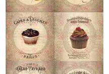 Декупажные карты с сладостями / Картинки для декупажа с сладостями