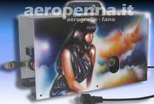 "airbrush custom art by ""aeropenna"" / decorazione di oggetti 3D ad aerografo"
