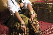Women's steampunk costume / Steampunk inspirational fashion board for women. Get inspiration for your steampunk costume.
