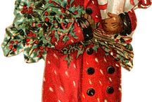 Impression de Noël antique