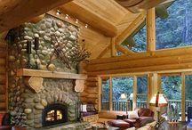 ξύλινη  καλύβα