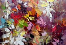 Abstract paintings.