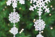 Crochet snowflakes / Вязаные снежинки