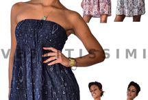 Vestitino vestito donna miniabito bandeau corto abito elastic sexy fascia Vs16