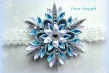 Kanzashi Snowflakes