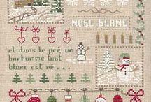 Points de croix Noël