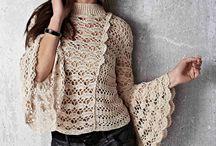 blusa croche manga longa