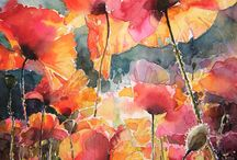 Flowers / Watercolour poppies