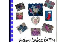 Rake and round loom knitting