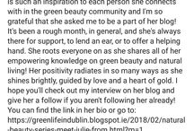 Green Life In Dublin Testimonials / many thanks for sharing the feedback about my work, I really appreciate that xo