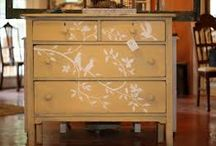 furniture stencilled
