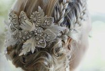 Wedding Hair Inspiration / Ideas and inspiration for bride and bridesmaids hair styling.
