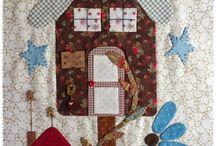 mystery bird house quilt Blk 12