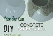 Make your own Concrete Garden Globe