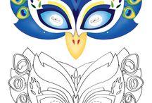 karneval masky škrabošky
