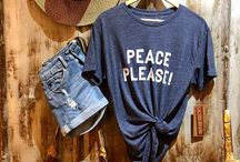 Bohemian Inspired Fashion Are you seeking peace and want the universe to know??? We have Unisex graphic tees IN STOCK!!