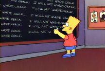 15 cosas perturbadoras que Bart ha escrito en el pizarrón de su escuela