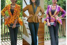 Veste tissu africain